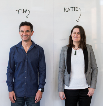 Founders - Tim and Katie